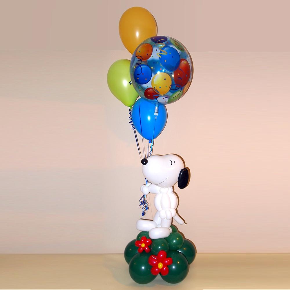 Originelle Geschenke zum Geburtstag: Ballonbouquet mit Snoopy