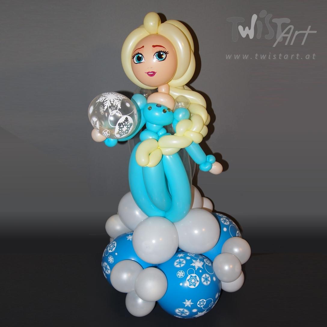 Luftballonfigur Die Eiskoenigin